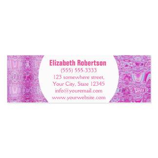 Rosa abstrato moderno cartão de visita skinny