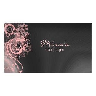 Rosa ajardinando floral das cinzas do cartão de vi cartões de visitas