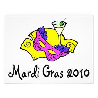 Rosa amarelo do carnaval 2010 convite personalizados