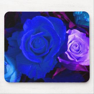Rosa azul do roxo mim mouse pads