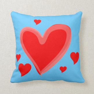 rosa azul dos corações do amor almofada