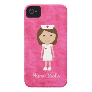 Rosa bonito da enfermeira iPhone 4 capa