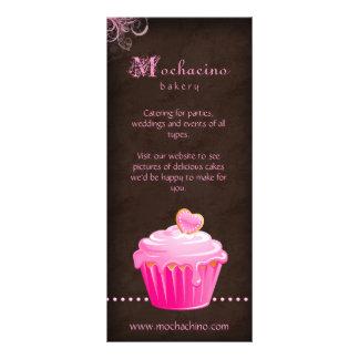 Rosa bonito do folheto do cartão da cremalheira do 10.16 x 22.86cm panfleto