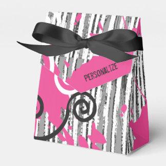 Rosa branco preto selvagem Funky personalizado Caixinhas De Lembrancinhas Para Casamentos