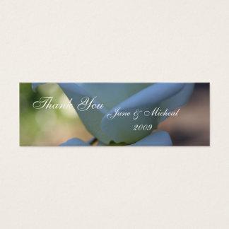 Rosa branco puro cartão de visitas mini