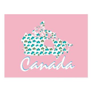 Rosa canadense do cartão de Canadá do bordo do