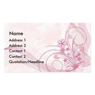 rosa cartão de visita