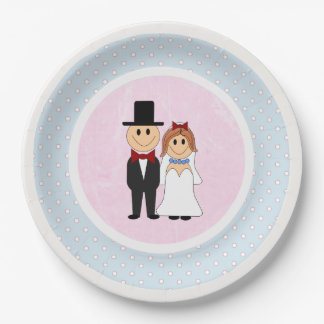 Rosa, & casamento azul dos noivos das bolinhas