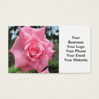 Rosa cor-de-rosa floral cartão de visitas