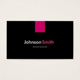 Rosa cor-de-rosa moderno de cientista animal cartão de visitas