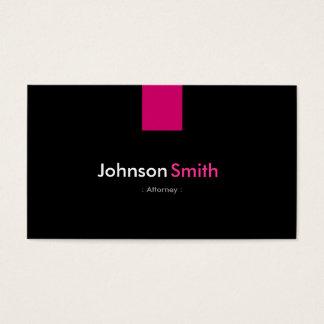 Rosa cor-de-rosa moderno do advogado cartão de visita
