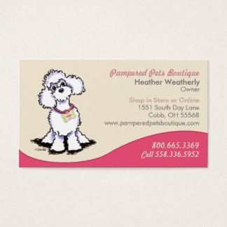 Rosa da caniche da loja de lembranças do boutique cartão de visitas