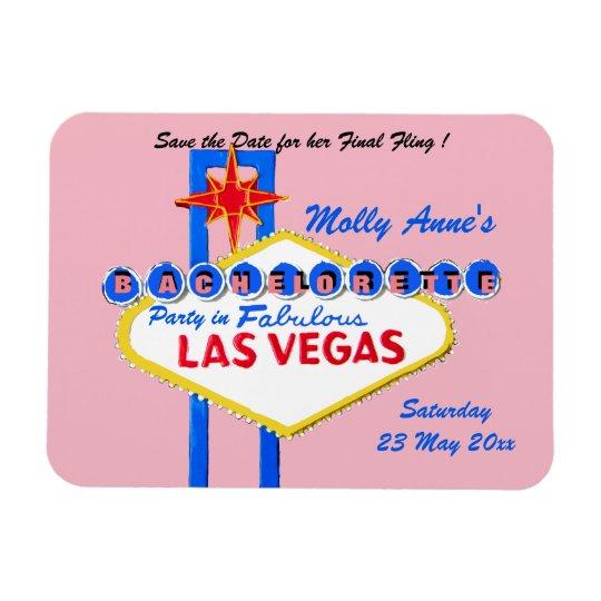 Rosa da festa de solteira de Las Vegas Nevada Foto Com Ímã Retangular