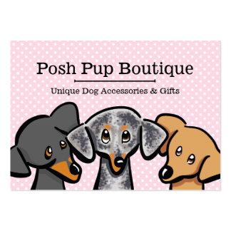 Rosa da polca dos filhotes de cachorro da loja cartão de visita grande