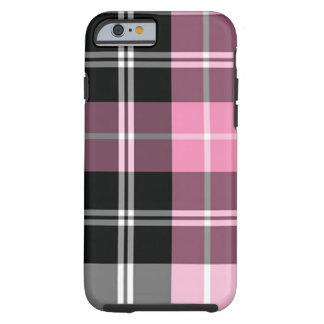Rosa da xadrez capa tough para iPhone 6