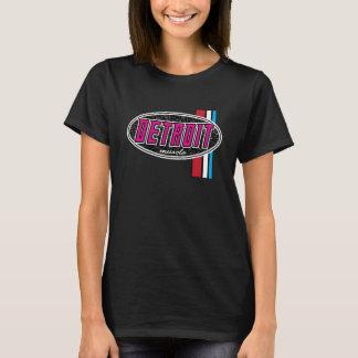 ROSA das senhoras do músculo de Detroit Camisetas