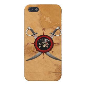 Rosa de compasso do crânio do pirata iPhone 5 capas