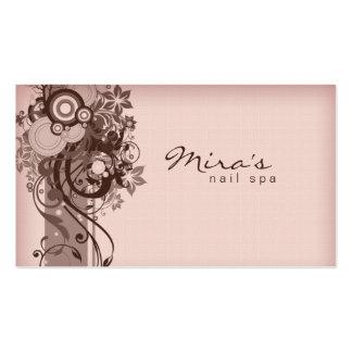 Rosa de linho de Brown do cartão de visita floral