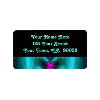 rosa de turquesa etiqueta de endereço