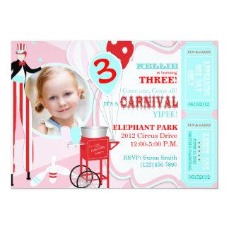 Rosa do carnaval convite 12.7 x 17.78cm