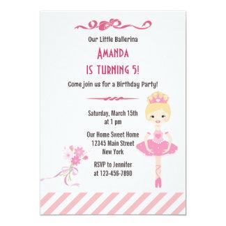 Rosa do convite de aniversário da bailarina