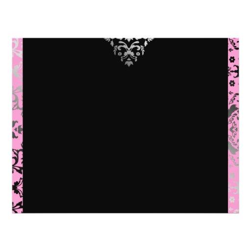 Rosa do damasco do brilho 311 panfleto coloridos