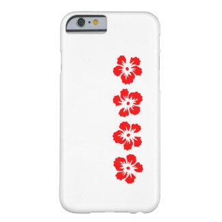 rosa do hibiscus do vermelho de Sharon Capa iPhone 6 Barely There