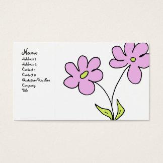 Rosa do hipster cartão de visita