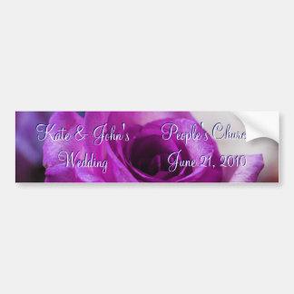 Rosa do roxo adesivo para carro