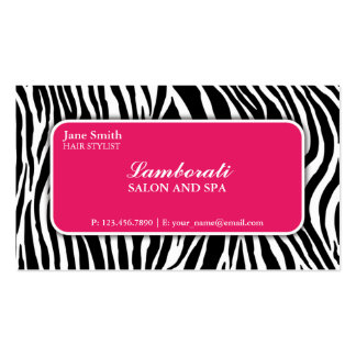 Rosa do salão de beleza do cabeleireiro do cartão de visita