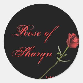 Rosa do sharyn adesivo