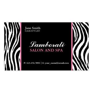 Rosa dos termas do salão de beleza do cabeleireiro cartão de visita