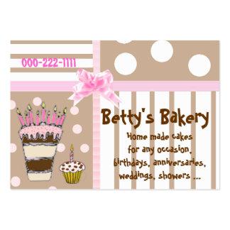 Rosa e cartão de visita bonito da padaria de Brown