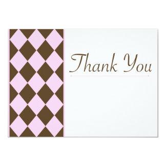 Rosa e cartões de agradecimentos de Brown Convite 11.30 X 15.87cm