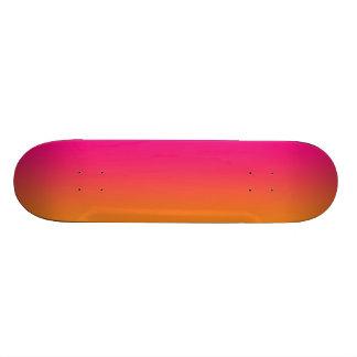 Rosa e laranja shape de skate 21,6cm