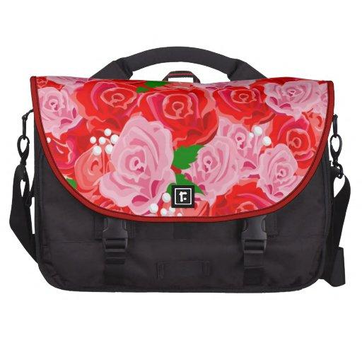 Rosa e saco do laptop das rosas vermelhas maletas para notebooks