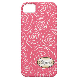 Rosa estilizado do caso do iPhone 5 do teste Capa Barely There Para iPhone 5