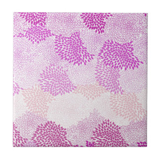 """Rosa estourado """"flor"""" azulejos de cerâmica"""