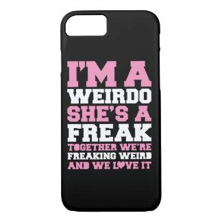 Rosa estranho dos melhores amigos de Freakin Capa iPhone 7