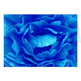 Rosa feliz do azul do dia dos pais III Cartão Comemorativo