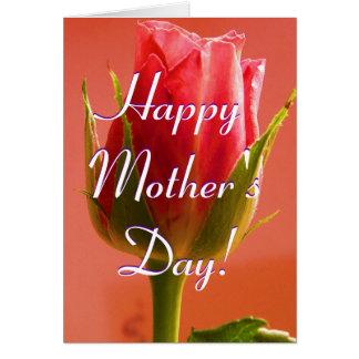 Rosa feliz do rosa do dia das mães mim cartão comemorativo