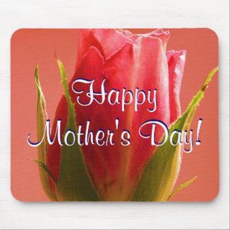 Rosa feliz do rosa do dia das mães mim mousepads