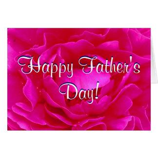 Rosa feliz do rosa do dia dos pais cartão