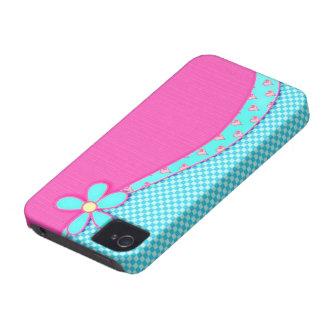 Rosa feminino capas de iPhone 4 Case-Mate