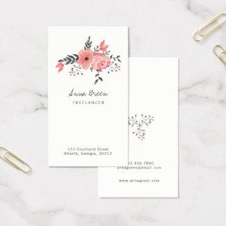Rosa floral cartão de visitas