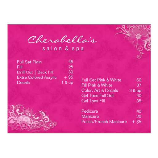 Rosa floral do folheto do cartão dos termas do sal cartao postal