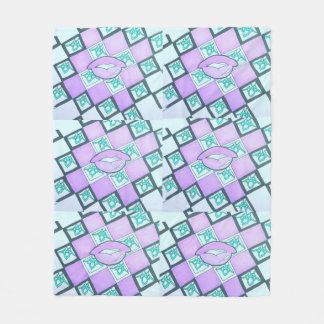 Rosa gráfico da coleção do bordo cobertor de lã