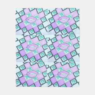 Rosa gráfico da coleção do bordo cobertor de velo