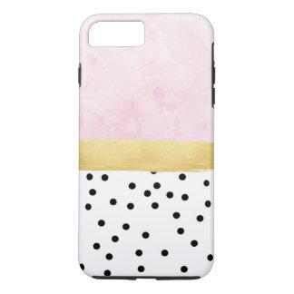 Rosa, ouro, bolinhas - capas de iphone