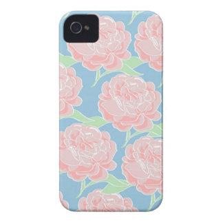 Rosa Pastel feminino bonito e impressão floral Capinhas iPhone 4